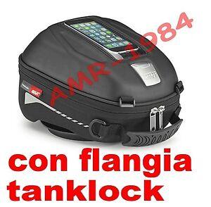 Tank Bag Givi Yamaha MT07 + Flange BF21 Tanklock