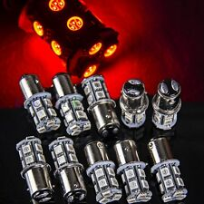 10x Red 13 SMD T25/S25 1157 Bay15d 5050 LED Tail Brake Stop Light Bulb Xenon 12v