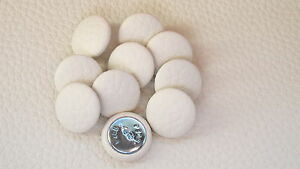 10 Upholstery buttons in Cream Faux leather 20mm