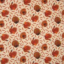 Fall Thanksgiving Fabric - Give Thanks Ii Turkey & Feather Toss - Blank Yard