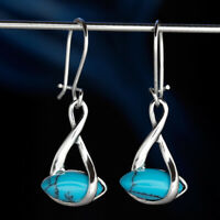 Türkis Silber 925 Ohrringe Damen Schmuck Sterlingsilber H511