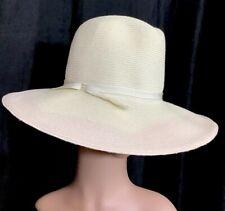 3844fa18ec5e8 Albertus Swanepoel Frederika Hat Natural With Pink Trim Ricamo Wool Nwt  425