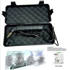 220V LED Hot Stapler Plastic Repair kit Car Bumper Welder Gun + 500 Staples