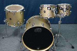 """DW Performance Shellset in """"GOLD MIST"""" Satin Lacquer  -  22,10,12,16"""""""