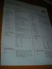 1996 FORD MUSTANG SVT COBRA vs MUSTANG GT DEALER COMPARISON BROCHURE SPEC SHEET