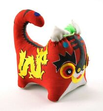 Rare Oriental Chinese Handmade Kid Baby Folk Art Stuff Animal Toy Red TIGER