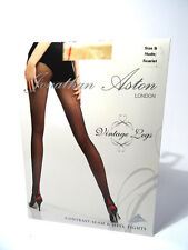 Jonathan Aston-GAMBE-VINTAGE LONDON Collant-Nude/Scarlet - 25,000 feedback! *