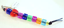 I Heart Dillon Zipper Pull Charm Rainbow Sparkle Beads Blocks Key Chain