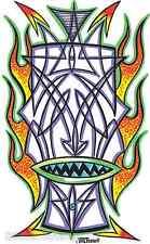 Pinstripe Tiki Sticker Decal Poster Art Von Franco VF21 Roth Like