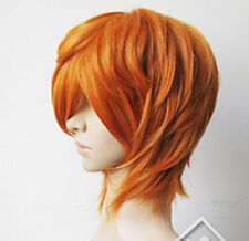 COS Diao Daiwa Angel Brief Orange Blonde Short Cosplay Party Wig