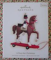 Hallmark 2008 A Pony For Christmas #11 Series Horse Christmas Keepsake Ornament