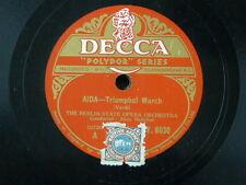 "78 rpm 12"" BERLIN STATE OPERA - ALOIS MELICHAR aida triumphal march / cavalleria"