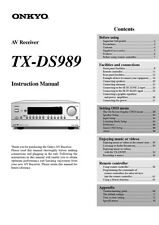 Onkyo Integra TX-DS989 Receiver Owners Instruction Manual