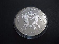 """Uganda  1.000 Shillings  2001  """"Fussball WM""""  PP  925'er Silber !!  -"""