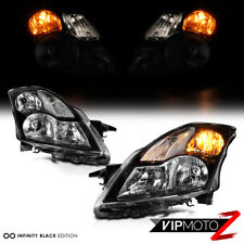 For 07-09 Nissan Altima Sedan Replacement Headlight Black Housing Clear Signal