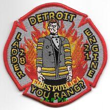 "Detroit  Engine - 21 / Ladder - 28  ""You Rang?"", Michigan (4"" x 4"")  fire patch"