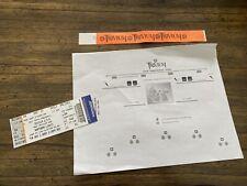 Trivium Ticket Stub Northern Lights 11/03/09 Unused w Stage Plot and Wristband