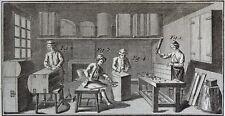 Lot Gravures Antique Print XVIIIe Coffretier Malletier Bahutier Robert Benard
