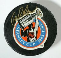 Teemu Selanne Signed Autographed Winnipeg Jets 1993 Game Puck Beckett COA NHL
