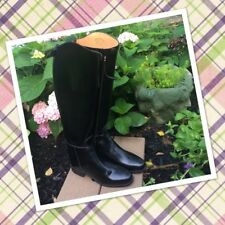 Ladies Ovation Gold Circuit Pro Dressage Black Leather Riding Boots size 6.5 R