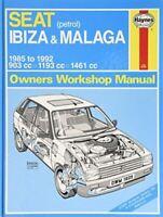 Anon, Seat Ibiza & Malaga (petrol) 1985-1992 (Haynes Owners Workshop Manual), Li