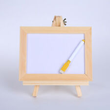 FM- Wood Triangle Easel Drawing Whiteboard Pen Kids Painting Learning Toy _GG