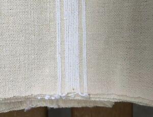 1 French Métis Cotton/Linen Towel Natural w/white Stripe 23x30