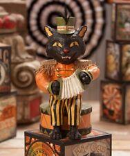 Bethany Lowe Musical Halloween Black Cat Figure TD7622