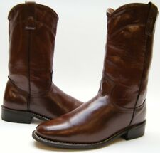 WOMENS VINTAGE BROWN PULL ON ROPERS COWBOY WESTERN BOOTS SZ 7 M 7M MADE IN USA