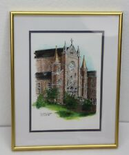 The Abbey Chappel Saint Meinrad Indiana IN Bill Pickle 1996 11 x 14 framed gold