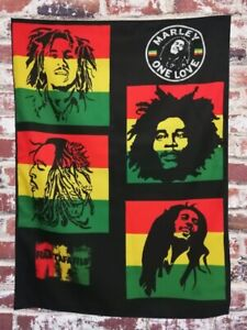 Amazing BOB MARLEY Collage Quality Tapestry Wall Hanging Hippie  Decoration