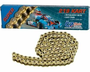 Go Kart CZ 219 Pitch Racing Chain 98-116 Link Karting Race