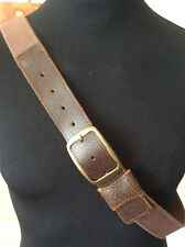 """Next ~ antique style leather fronted cotton 1.5"""" wide jeans belt ~ xxl 38-44"""""""