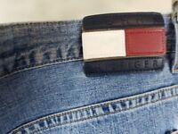 Vintage 90sTommy Hilfiger Denim Jeans Size 36 x 32 (33) Spell Out Big Flag  -mj2