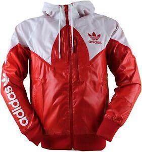 Adidas Originals Windbreaker Jacke L Chile Firebird Wetlook Glanz Shiny WIE NEU