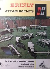 Brinly Sleeve Hitch Implement 8 to 16 h.p Garden Tractor Sales Brochure Manual