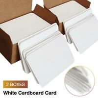 2 Boxes Blank Face Back Playing White Card Magic Tricks Paper Poker DIY Board