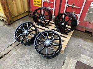 "18"" RS ST Alloy Wheels 5x108 BLACK fits Ford Focus Mk2 Mk3 Mk4"