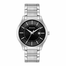 Bulova Men's 96B267 Quartz Black Dial Silver-Tone Stainless Steel 40mm Watch