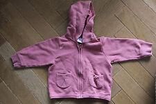 Sweat-shirt à capuche pull gilet fille Petit Bateau 18 mois vieux rose