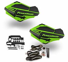 Powermadd Sentinel LED Handguards Guards Green Black Mount Ski Doo Snowmobile