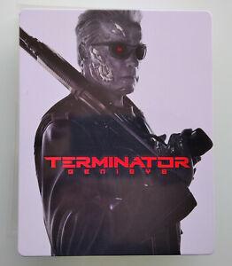 Steelbook Terminator Genesys (1 disque blu ray, 1 blu ray 3d, 1 bonus)