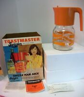 Toastmaster Swizzler Glass Pitcher Orange Battery Mixer WORKS 64 oz. GRT Graphic