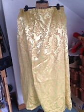 Rétro vintage or Golden Jacquard Brillant Rideau Tissu Textile