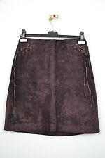 CLOCKHOUSE C&A Designer Womens Knee Velvet Effect Pencil Brown Skirt sz 12 Н20