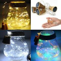 10/20LED Solar Powered Bottle Cork Shaped String Night Fairy Light Lamp Party