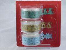 3x Glitzer Tape - Weihnachten #5 - Kartengestaltung - Scrapbooking - Neu