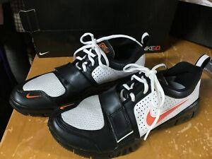 New in Box NIKE iD Free 7.0 Orange black white Athletic Shoes Mens 10.5 custom