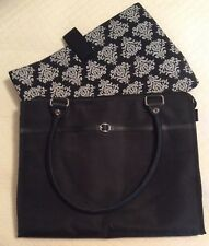 UN-USED Computer Bag Purse Tote 2 Piece BLACK 14  to 15 Inch FAST FREE SHIP