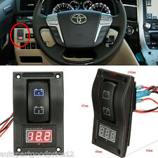 12V RV Car Truck Marine Voltmeter LED Dual Battery Test Panel Switch ON-OFF-ON